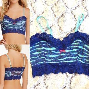 Kensie blue lace bralette